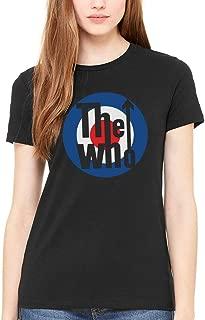 AWDIP Women's Official The Who Classic Target Logo Women's T-Shirt 1960s Rock Band Classic