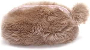 guantongda Superb Cosmetic Makeup Bag Plush Fur Handbags for Jewelry Storage  Makeup and Travel for Home Decoration None Main color