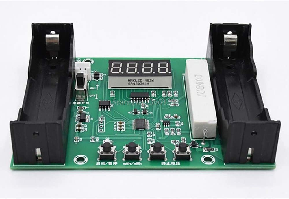 QWERTOUR Lithium Battery Capacity Tester Digital Discharge Electronic Load Battery Monitor Dropship