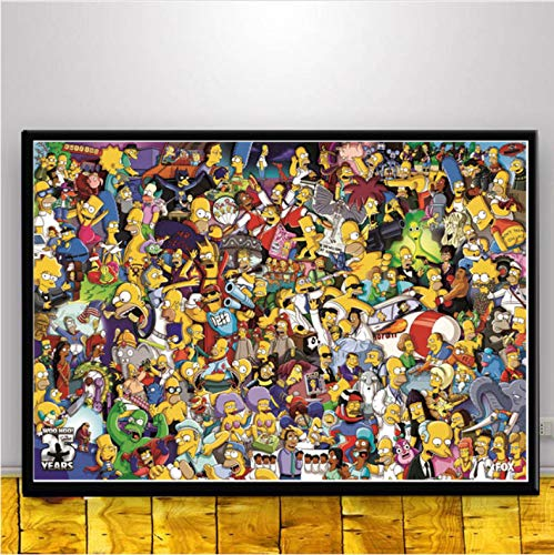 Arte De Pared The Simpsons Scream Anime Cartoon Comics Simpson Poster Picture Carteles E Impresiones Pintura Sobre...