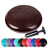 Schramm® Ballsitzkissen inkl. Pumpe Balancekissen 10 Farben Gleichgewichtskissen Noppenkissen Sitzball