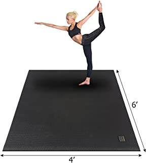 "Gxmmat Large Yoga Mat 72""x 48""(6'x4') x 7mm for Pilates Stretching Home Gym Workout, Extra Thick Non Slip Anti-Tear Exercise Mat"
