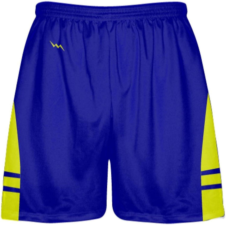 LightningWear Royal bluee Yellow Lacrosse Shorts OGLax Shorts Mens Boys