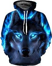 BarbedRose Unisex Realistic 3D Printed Athletic Pullover Sweatshirt Hoodies