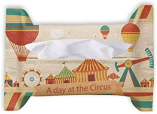 A Day at The Circus Pattern Paper Towel Facial Tissue Bag Napkin Bumf