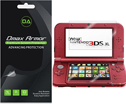 Dmax Armor [3-Pack] for Nintendo 3DS XL Screen Protector (2015 Version) Anti-Bubble High Definition Clear Shield - Lifetime Replacement
