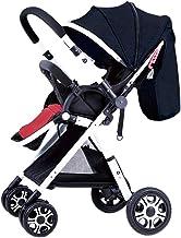 GFFTYX Sillas de Paseo Cochecito de bebé: la carriola Plegable for muñecas Puede Sentarse y acostarse en un Paisaje Alto, Simple, niño, niño, bebé, Empujar la Mano, Paraguas Cochecito Ligero