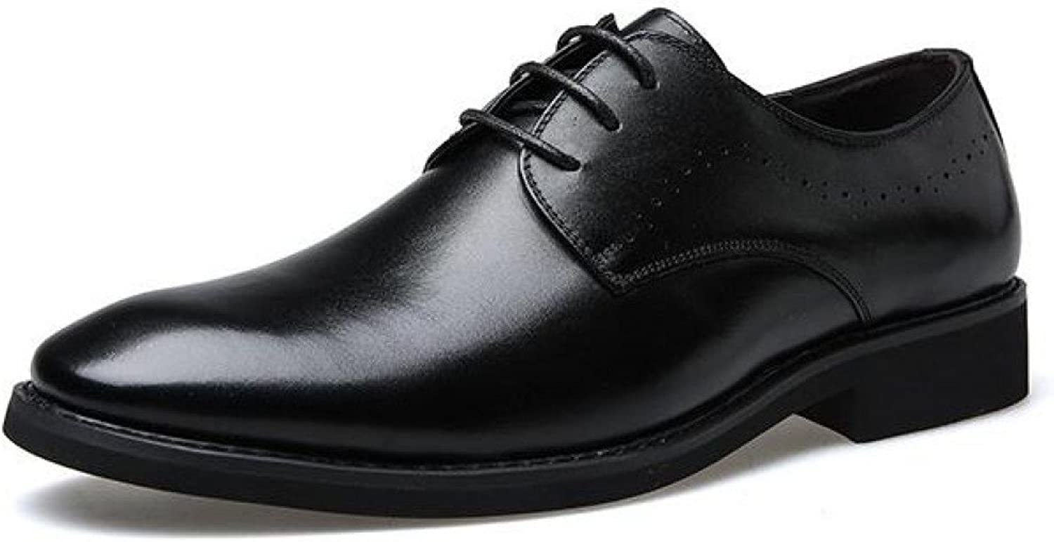 LEDLFIE Men's Real Leather shoes Casual Genuine Leather Laceup Breathable Dress Leather shoes