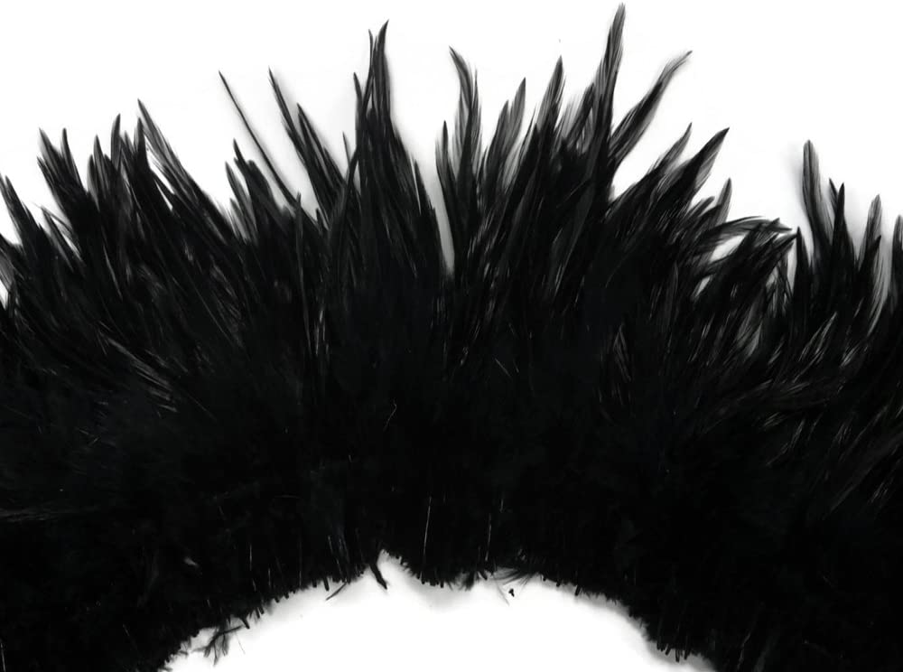 Moonlight Feather 4 Inch Strip National uniform free shipping - Hac Black Our shop OFFers the best service Neck Strung Rooster