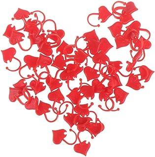 50pcs À Tricoter Point Marqueurs, en Forme De Coeur en Plastique Point Tricot Crochet De Verrouillage Point Aiguille À Tri...