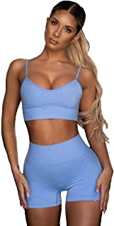 Sports Bra Seamless Top Yoga Running Gym Crop Top Spaghetti Strap Push Up Bra Sportswear Fitness Full Cup Dolly Candy Colo...