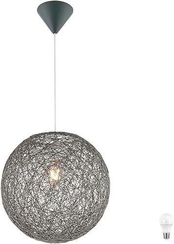 Lampe suspendue Lampe suspendue lumineuse Ballon tissé en papier comprenant un illuminant LED