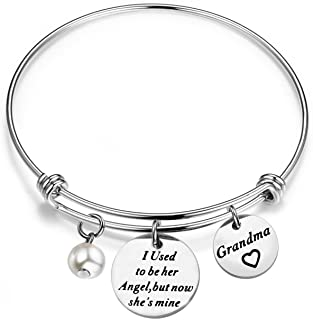 Memorial Jewelry I Used to Be His/Her Angel Bracelet in Memory of Loved One Grandpa Grandma Sympathy Gift