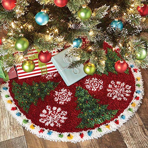 Herrschners Holiday Trees in The Snow Latch Hook Kit