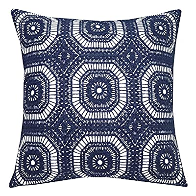 Embroidered Modern Kaleidoscope Pattern Pillow Cover