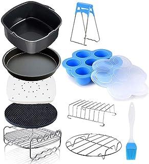 SNOWINSPRING Accessoires de Friteuse à Air Compatibles pour Air Fryer, COSORI et Deluxe Deep Fryer Accessories Set de 12-6.5
