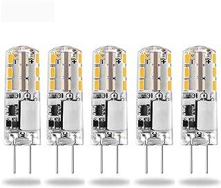 Bombilla LED G4, 12 V, luz blanca diurna,CA/CC, 12 V, repuesto de , halógena, G4, base bi-pin, tipo JC, ahorro de energía, no regulable (G4-3014-24-5-3000k)