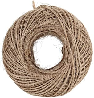 100M Natural Burlap Hessian Jute Twine Cord Hemp Rope String 2mm Rustic Wrap Gift Packing String Wedding Decoration