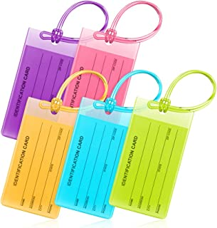 Flexible Luggage Tags, Colorful Bag Tags (Multicolor, 4.2x2.2