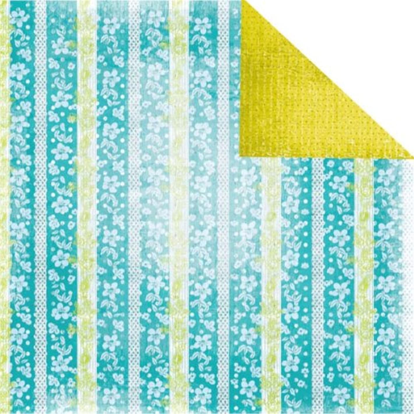 Prima 840938 12 by 12-Inch Tropics Double Sided Patterned Cardstock Paper, Waterfall, 10-Pack