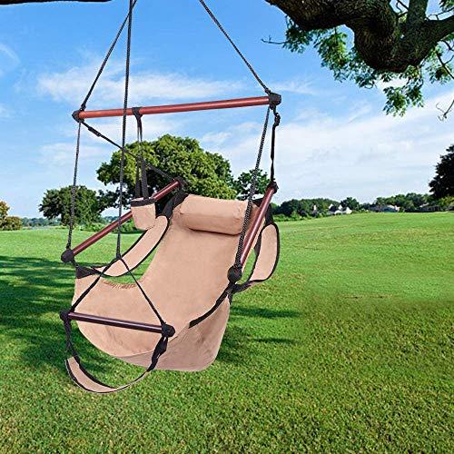 Hamaca Silla Colgante 600D asiento colgante de nylon, silla de hamaca colgante en forma de S, sillón colgante de alta resistencia, sillas colgantes de alto resistencia para patio patio jardín balcón p