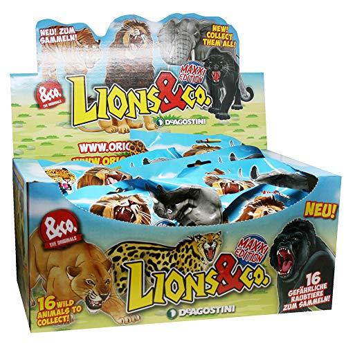 DeAgostini Unbekannt Lions & Co Maxxi Edition - Sammelfiguren - 1 Display (16 Tüten)