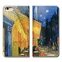 (ティアラ)Tiara iPhone 11 iPhone11 スマホケース 手帳型 ベルトなし アート ゴッホ 夜のカフェテラス 手帳ケース カバー バンドなし マグネット式 バンドレス EB226030107902