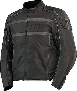 CUSTOM BILT Shadow Waterproof Textile Motorcycle Jacket - LG, Black