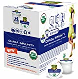 SOLLO 100% Chaga Coffee Pods Compatible With 2.0 K-Cup Keurig Brewers, Mushroom Coffee, Immune System Support, Organic by USDA, Functional COFFEE Blend, 24 Count.