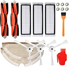 Walmeck Robotic Vacuum Cleaner Filters Side Brushes Main Brush Kit 18Pcs Replacement Accessories For Xiaomi Roborock S55 S...