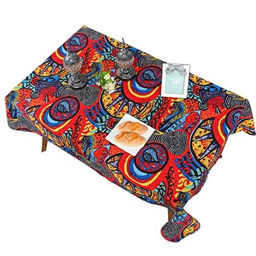 Mince cachemire table basse tissu méditerranéen couleur tissu ethnique nappe tissu de couverture de l'environnement (Color : Burst, Size : 140 * 240cm)