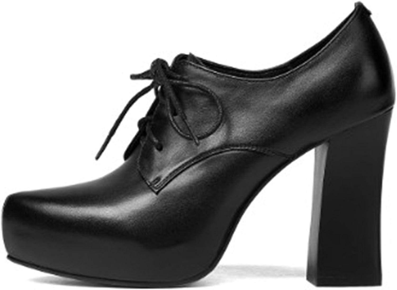 Cocainat Casual shoes Woman high Heels Cross-Tied Platform Genuine Leather Pumps Women