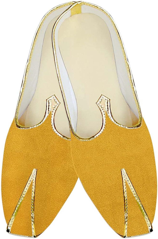 INMONARCH Mens Yellow Wedding shoes Simple MJ015702