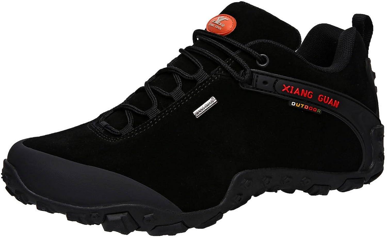 XIANG GUAN Men's Outdoor Low-Top Lacing Up Water Resistant Trekking Hiking shoes