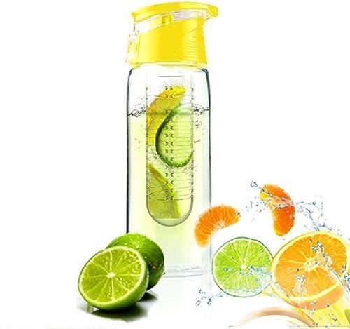 JUNGEN Bouteille 800ML Fruit Infusant D'eau Avec infuseur de Fruits et Flip Lid Jus de Citron Faire Sans Bouteille BP...