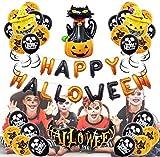 Sorlakar - Globos de decoración de Halloween Globos de Fiesta para Cumpleaños Fiestas Halloween Otras Celebraciones Globos Metalizados para uso escolar en el hogar