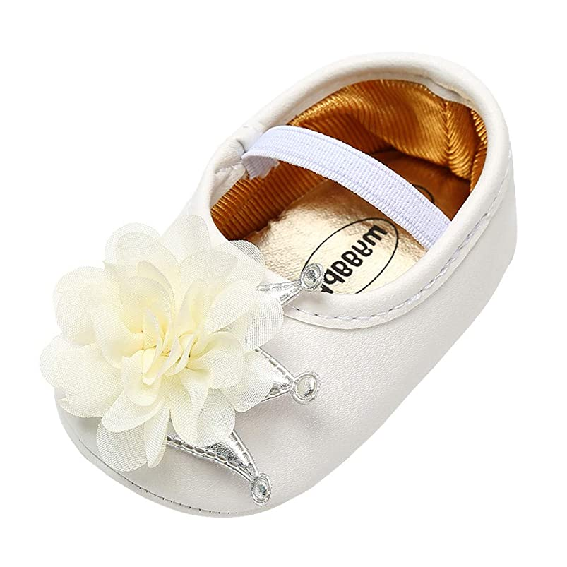Lurryly?Newborn Kids Shoes for Girls Floral Soft Sole First Walkers Shoes(Infant/Toddler) ieflqzaf552052
