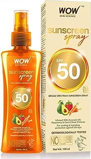 WOW Skin Science UV Sunscreen Spray Spf 50, 100 ml