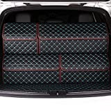 EverLux Auto Trunk Organizer for Car, Luxury Leather Foldable Trunk Storage for Interior SUV, Pickup, Van, Sedan, Portable Crocery Cargo Container (Black&Red Updated Model, L)