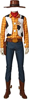 Woody Costume Sheriff Halloween Cosplay Uniform Fancy Dress for Adults