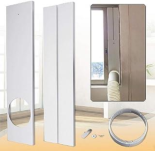 Vaycally Placa de kit de ventana ajustable 2pcs Kit de ventana para aire acondicionado para LG/Shinco/Gree/Aux/Haier/Hisense, longitud máxima de ajuste: 67 cm - 120 cm / 26,38