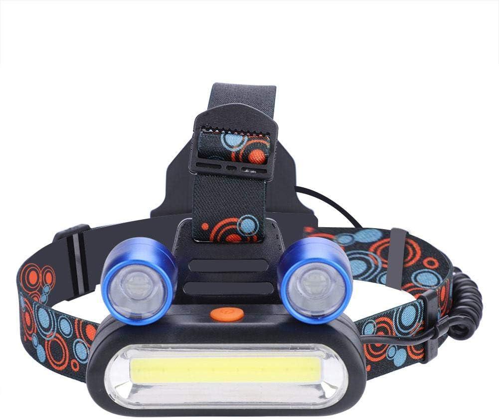 Blue pour la Lecture de Camping Lampe Frontale Rechargeable /étanche la randonn/ée la Chasse Ichiias Lampe Frontale de Torche USB