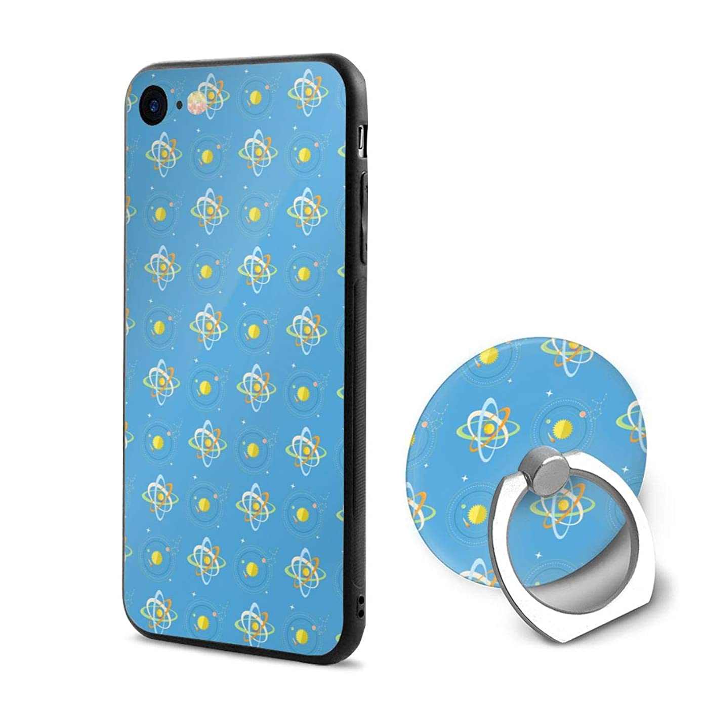 iPhone 6/6s Case Bright Solar System and Planets Rotating Blue 360 Degree Rotating Ring Kickstand Case Shockproof Anti-Scratch Impact Protection Function for iPhone 6/6s