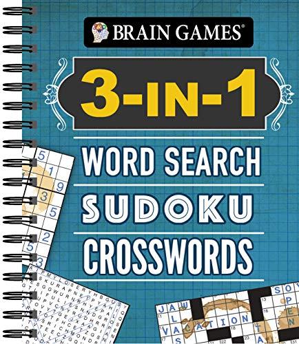 Brain Games  3In1: Word Search Sudoku Crosswords