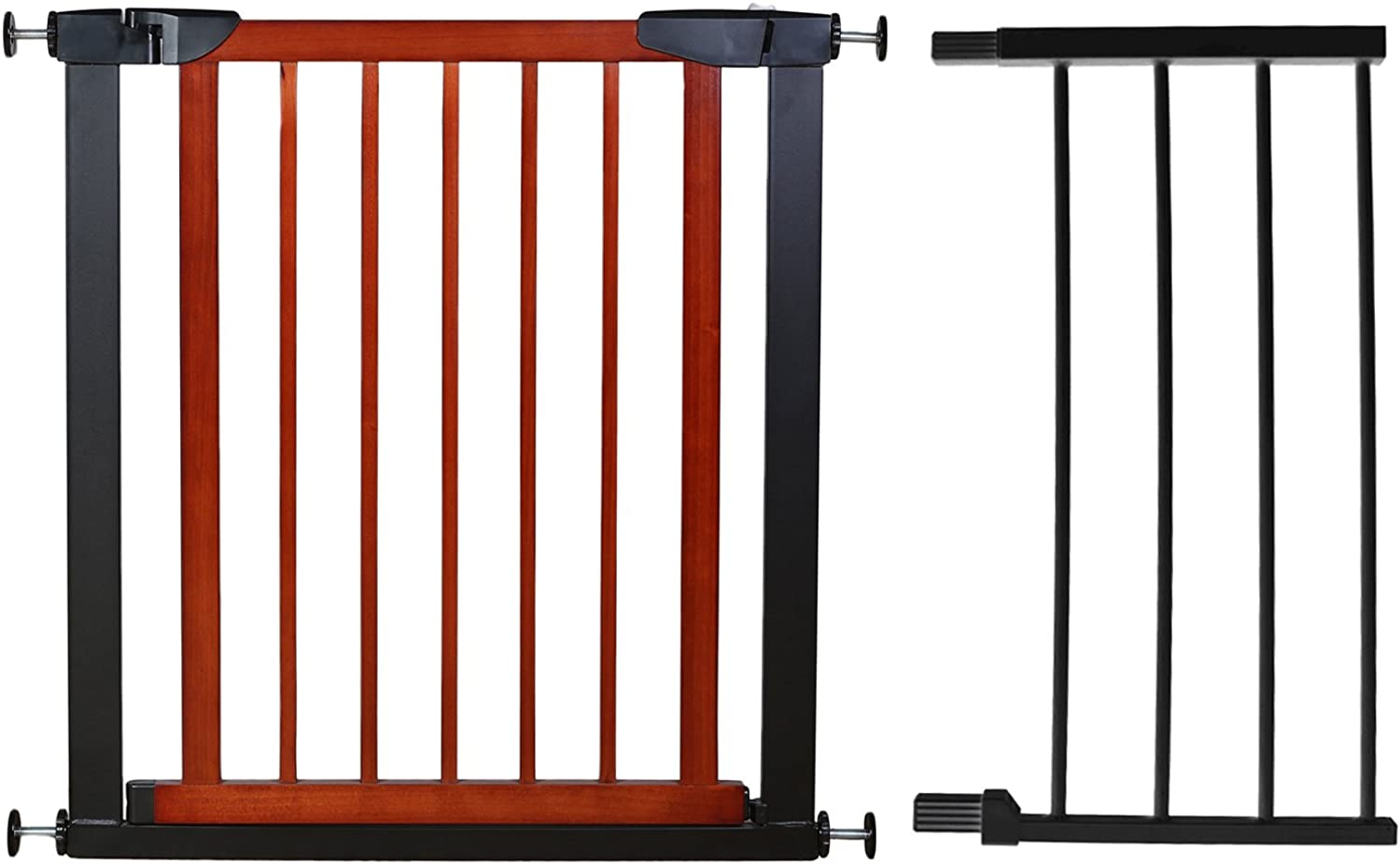 Fairy Baby Pet & Baby Gate Narrow Extra Wide for Stairs Metal and Wood Pressure Mounted Safety Walk Through Gate,Fit Spaces 68.11 70.87  (37 Days Delivered)