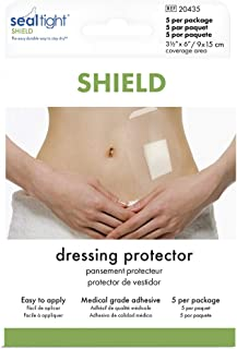 Seal-Tight Shield Shower Patch to Keep Wound Sites Dry Waterproof Bandage Cover for Showering Latex-Free 5/pkg