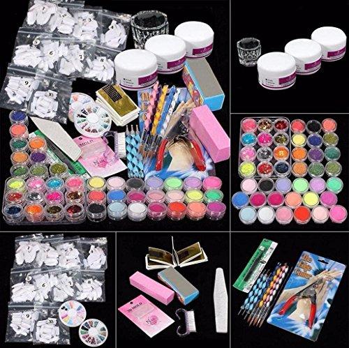 Vovotrade 37 Professional Acrylique Glitter Poudre de Couleur Français Ongle Art Deco tips Ensemble