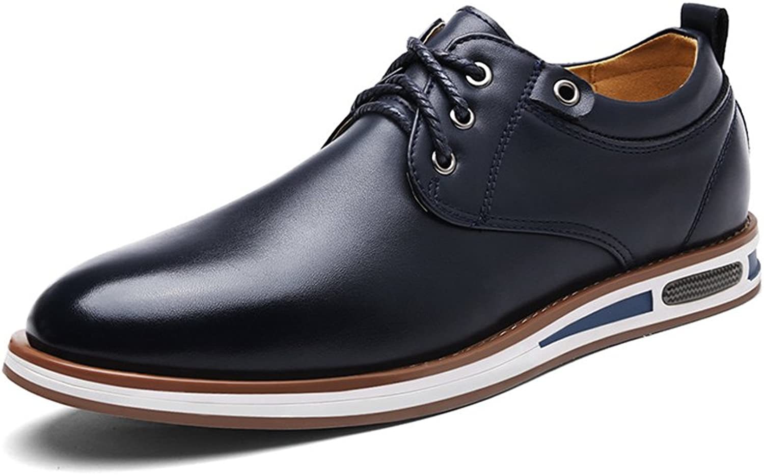 shoes Modern Men's Round Toe shoes Matte PU Leather Upper Lace Up Flat Sole Breathable Lined Oxfords Leather shoes