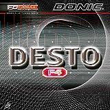Donic - Caoutchouc de raquette de tennis de table Desto F4, Noir , 2.0mm