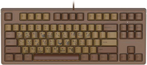 Ajazz AK533 Chocolate Theme Mechanical Gaming Keyboard, 87 Keys Layout, Firstblood Pink Switch, PBT Keycaps, No Backlit